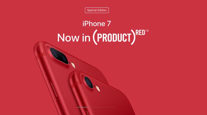 iPhone 7 e iPhone 7 Plus ganham versão na cor vermelha (Foto: Divulgação/Apple)