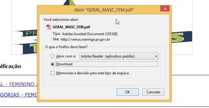 Firefox configurado para perguntar o que fazer com arquivo PDF (Foto: Reprodução/Helito Bijora)