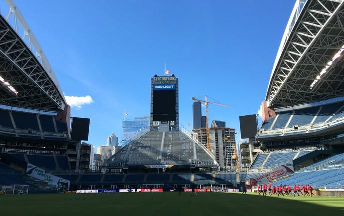 Estados Unidos treino Seattle (Foto: Victor Canedo / GloboEsporte.com)