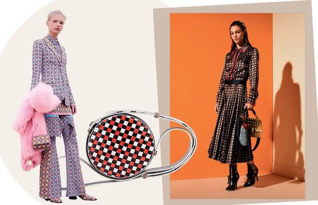 Givenchy, Bolsa DVF e Michael Kors (Foto: Tom Munro/Reprodução Vogue Itália P. 108 e Divulgação)