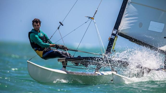 Diego Monteiro, velejador paraibano, campeão brasileiro de hobie cat-14 (Foto: Marcos Mendéz / Divulgação)