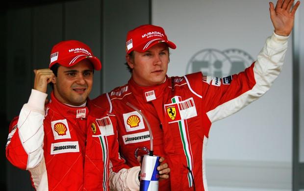 Kimi Raikkonen já foi parceiro de Felipe Massa na Ferrari  (Foto: Getty Images)