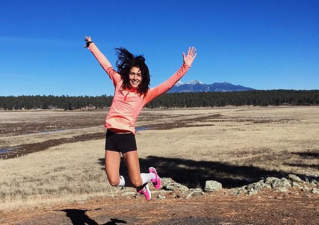 A velocista norte-americana Stephanie Garcia (Foto: Instagram/Reprodução)