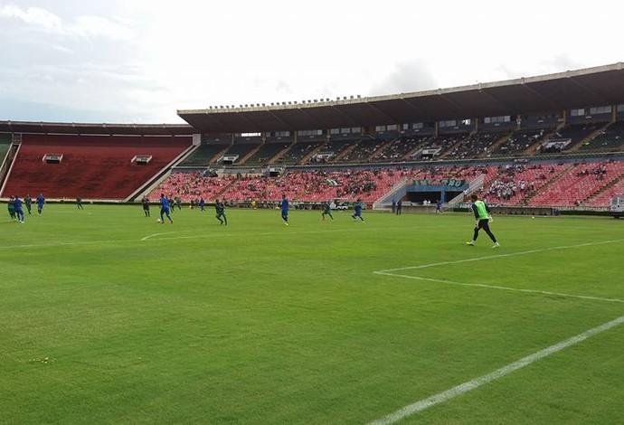 Uberlândia Esporte em jogo-treino com o Comercial de Ribeirão Preto (Foto: Vilmar Silva)