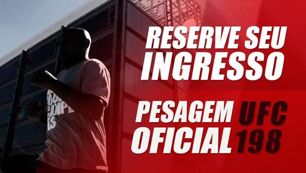 Reserve seu ingresso para a pesagem do UFC 198 pelo aplicativo da RPC (Foto: Arte / RPC)