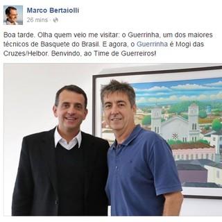 Marco Bertaiolli Mogi das Cruzes Guerrinha (Foto: Reprodução/Facebook)