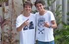 Daniel e Lucca no intervalo das gravações (Foto: Malhação / Tv Globo)