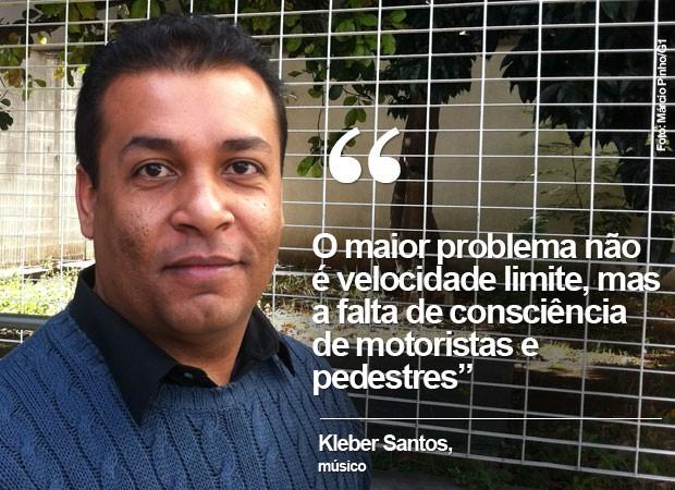 Kleber, que defende investimento em educação do motorista (Foto: Márcio Pinho/G1)