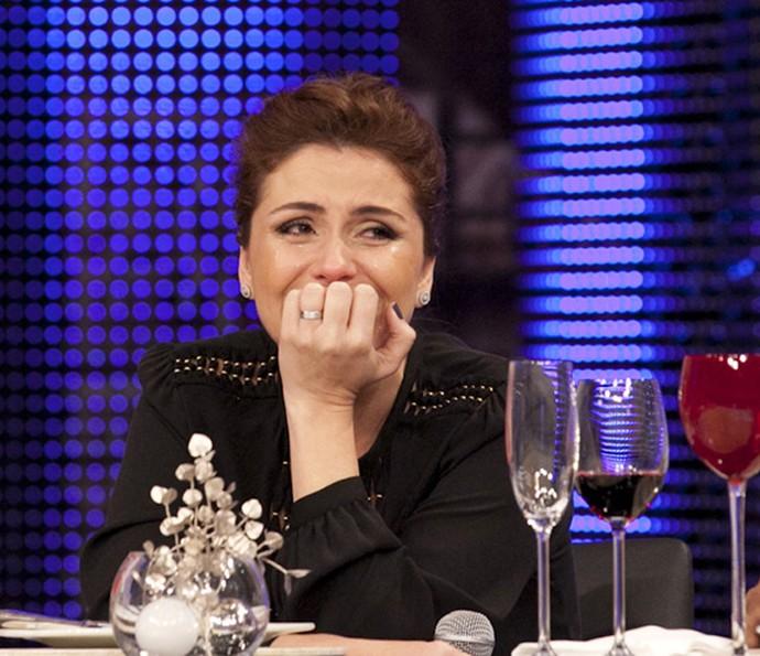Giovanna Antonelli se emocionou com depoimento do marido Leonardo Nogueira (Foto: Felipe Monteiro/Gshow)