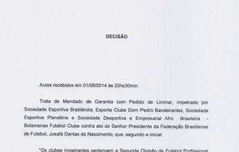 TJD-DF suspende segunda divisão do Candangão, mas FBF realiza rodada