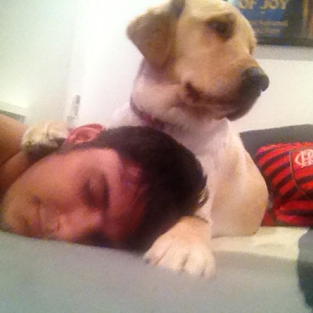 Bruno Gissoni com seu cachorro de estimação (Foto: Instagram/ Reprodução)
