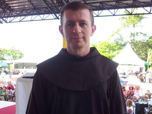 Frei Valdecir é o atual guardião do Convento da Penha, em Vila Velha (Foto: Juliana Borges/ G1 ES)