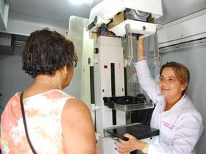 Demanda do mamógrafo será espontânea para as mulheres que estão no grupo prioritário (Foto: Inaldo Lins/PCR)
