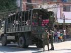 Forças federais patrulham as ruas  do Rio de Janeiro