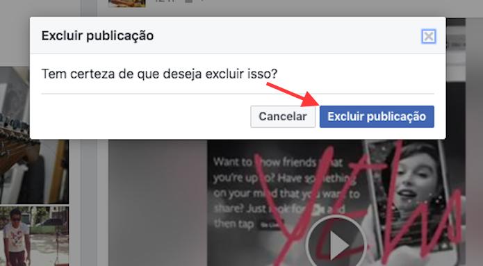 Opção para excluir um vídeo ao vivo do Facebook (Foto: Reprodução/Marvin Costa)