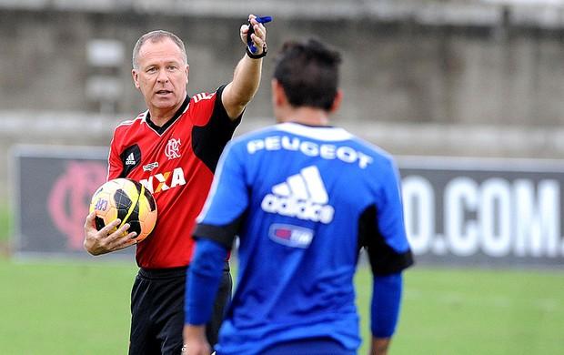 Mano Menezes treino Flamengo (Foto: Alexandre Vidal / Fla Imagem)
