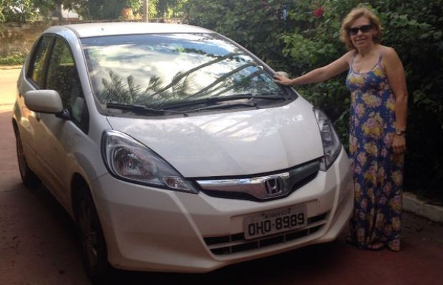 Solange Ferreira Rangel é dona de um Honda Fit (Foto: Laura Rebeca Rangel)