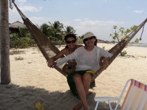 A professora Claudete Maria buscou o refúgio em Barra Grande para cura de stress (Foto: Divulgação)