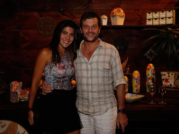 Roberto Birindelli e a namorada (Foto: Ellen Soares / Gshow)