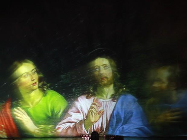 Natalis é o espetáculo com projeção waterscreen do Natal Luz (Foto: Cleiton Thiele/Divulgação)