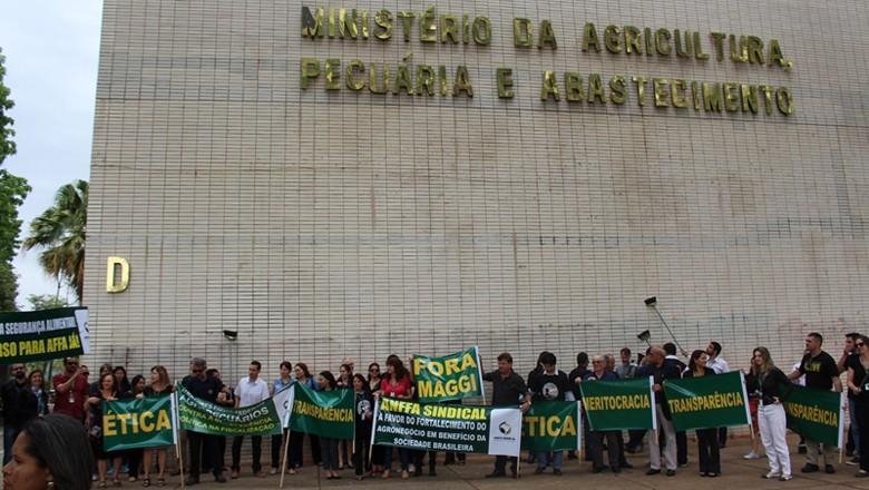 mapa-ministerio-agricultura-protesto (Foto: Fernanda Fernandes)