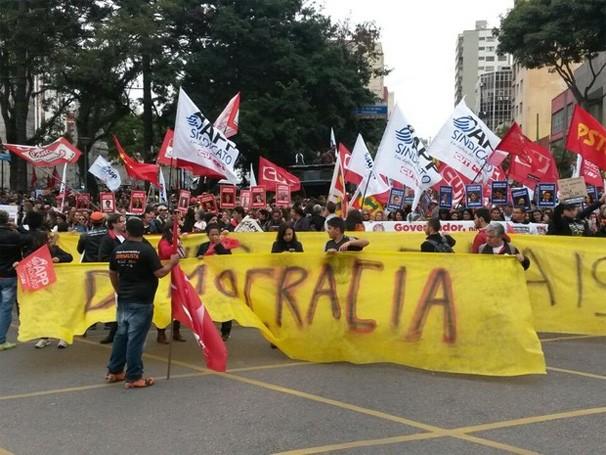Paraná TV Greve professores (Foto: Luiz Fernando Martins / RPC)