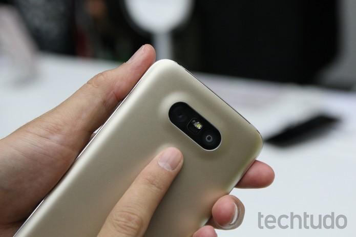 Câmera dupla foi uma das grandes novidades do LG G5 (Foto: Fabrício Vitorino/TechTudo) (Foto: Câmera dupla foi uma das grandes novidades do LG G5 (Foto: Fabrício Vitorino/TechTudo))