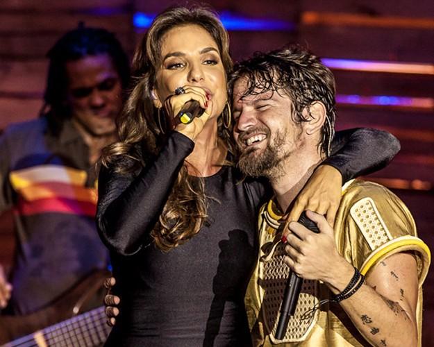 Ivete Sangalo participa da gravação do DVD do Saulo (Foto: Divulgação / Rafael Mattei)