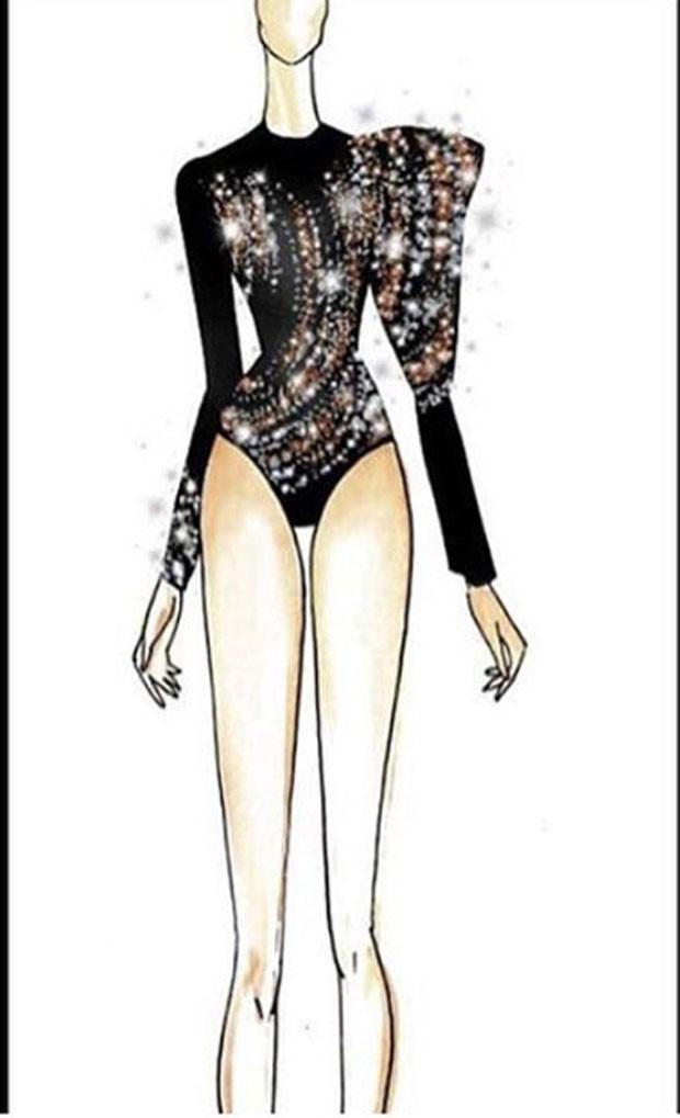 O croqui do look de Ivete (Foto: Reprodução Instagram)