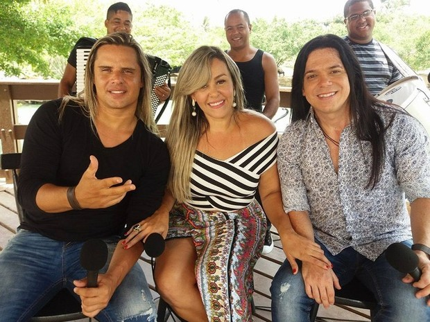 Calcinha Preta apresenta nova cantora em show no Speed Day  (Foto: Anderson Barbosa / Gshow)