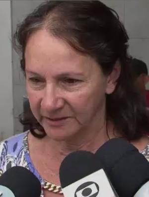 Mãe do goleiro Danilo, da Chapecoense, Alaíde Padilha (Foto: Reprodução SporTV)