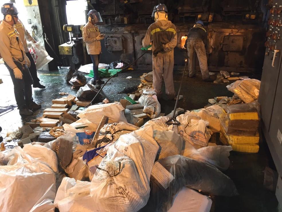Polícia incinera mais de quatro mil quilos de drogas em São Luís (Foto: Senarc / Divulgação)