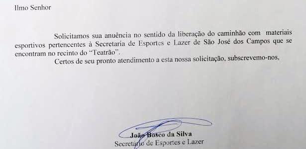 Bosco carta Geléia (Foto: Reprodução)