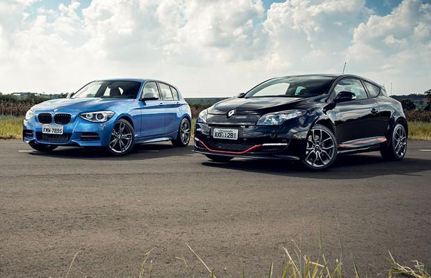 BMW M135i e Renault Mégane RS (Foto: Fabio Aro / Autoesporte)