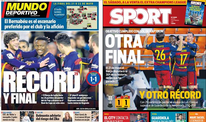 BLOG: Jornais de Barcelona exaltam vaga na final e quebra de recorde da era Guardiola