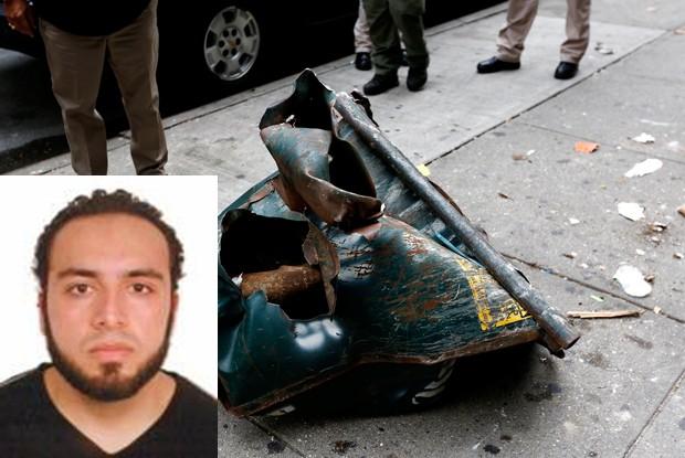 Ahmad Khan Rahami é suspeito de ligação com atentado em Nova York (Foto: Justin Lane/EPA/AP e FBI)