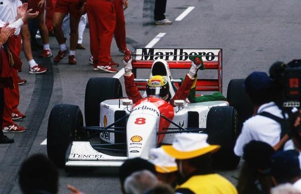 Senna conquistou sua última vitória na F1 em 1993, com a McLaren (Foto: Divulgação)