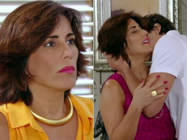Roberta, de 'Guerra', arrasou com batom e esmalte pink (Foto: Divulgação/TV Globo)