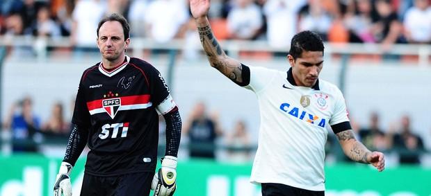 Rogério Ceni e Guerrero Corinthians x São Paulo (Foto: Marcos Ribolli / Globoesporte.com)