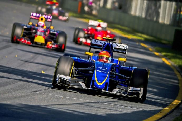 Felipe Nasr, da Sauber, no treino classificatório para o GP da Austrália (Foto: EFE)