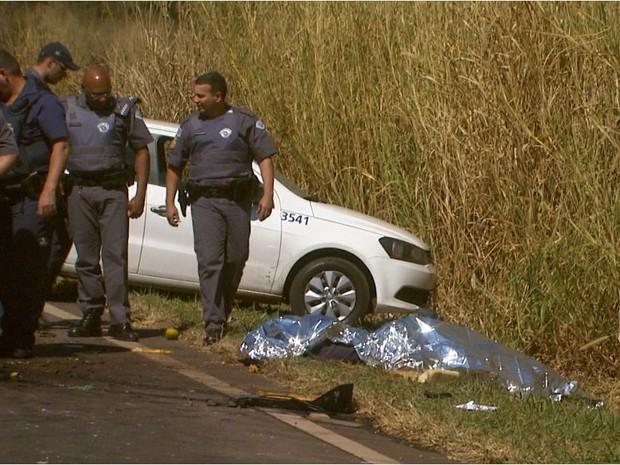 Motorista do carro-forte, de 49 anos, foi morto com um tiro na cabeça durante o assalto (Foto: Reprodução/EPTV)