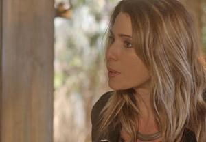 A dona do Rota 94 só queria falar de negócios (Foto: TV Globo)