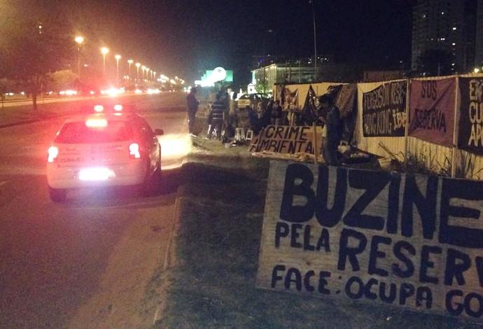movimento Ocupa golfe, protesto (Foto: Facebook)