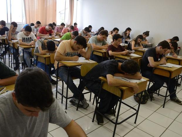 Na segunda-feira (16), os vestibulandos fizeram a etapa vocacionada (Foto: Divulgação/Unicentro)