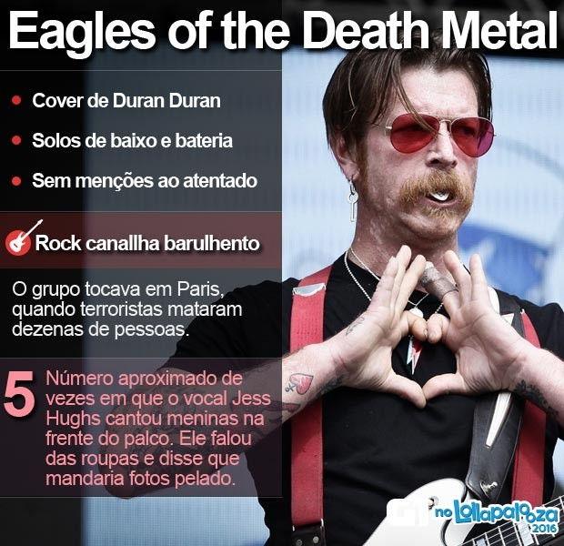Eagles of the death Metal tocou no Lollapalooza (Foto: Caio Kenji/G1)