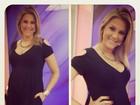 Ana Hickmann exibe barrigão de grávida: 'Está crescendo rápido'