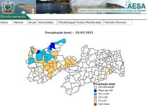 Chove no Sertão da Paraíba em dia de São José (Foto: Reprodução/site da Aesa)