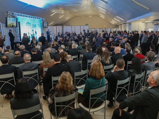 Evento de lançamento da 39ª Expointer ocorreu no Parque Assis Brasil, em Esteio (Foto: Luiz Chaves/Palácio Piratini)