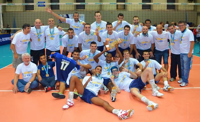 São José Vôlei campeão Superliga B masculina 2014 (Foto: Danilo Sardinha/GloboEsporte.com)
