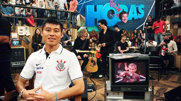 Zizao programa Altas Horas  (Foto: Marcos Ribolli / Globoesporte.com)